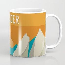 Boulder, Colorado - Skyline Illustration by Loose Petals Coffee Mug