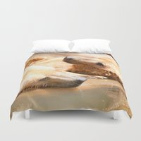 bears Duvet Covers featuring Bears by Sylvia C