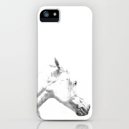 White Horse Profile iPhone Case
