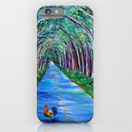 Tree Tunnel with Rooster iPhone Case