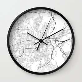 Minimal City Maps - Map Of Hartford, Connecticut, United States Wall Clock