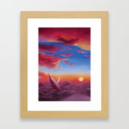 ocean clouds Framed Art Print