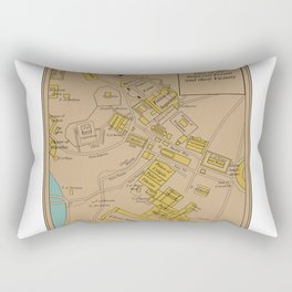 Historic Plan of the Imperial Forum Rome Map Rectangular Pillow