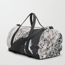 Yin Yang Mandala on Marble #1 #decor #art #society6 Duffle Bag