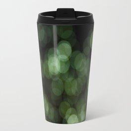 Bokeh Blurred Lights Shimmer Shiny Dots Spots Circles Out Of Focus Green Travel Mug
