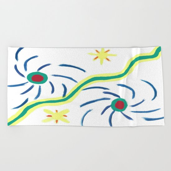 Suns and Hurricanes Beach Towel