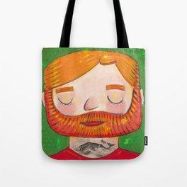 Tattooed Bearded Ginger Man Tote Bag