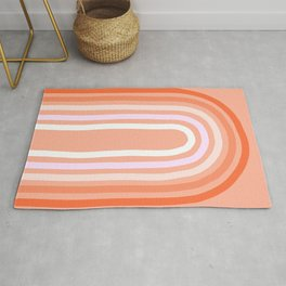 Rise above the Rainbow - Peachy pastels Rug