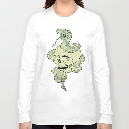 Skull Snake Long Sleeve T-shirt