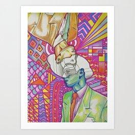 Abstract Man Portrait Art Print