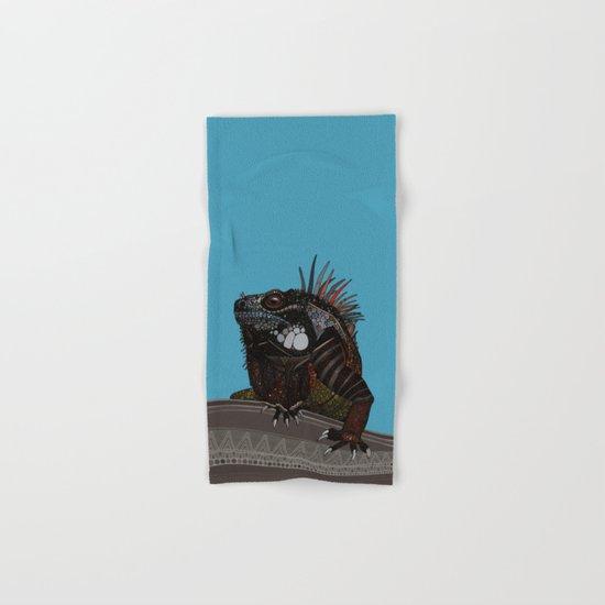 iguana blue Hand & Bath Towel