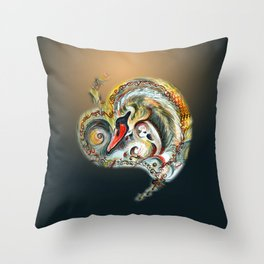 Golden Love Throw Pillow