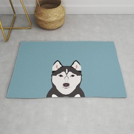 Shiloh - Husky Siberian Husky dog art phone case perfect gift for dog people Rug