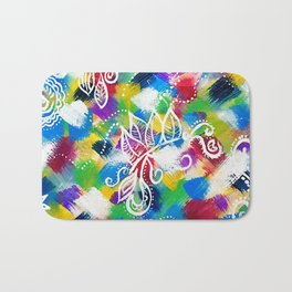 Colours_Abstract Painting_Art Bath Mat