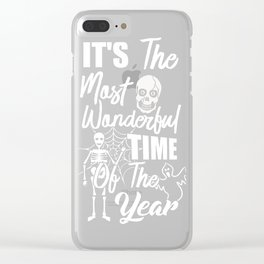 It's The Most Wonderful Time Of The Year Halloween Shirt Clear iPhone Case