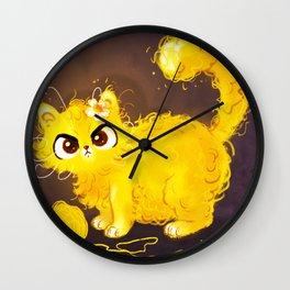 Yellow Cat Wall Clock