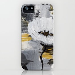Black/Gold Floral iPhone Case
