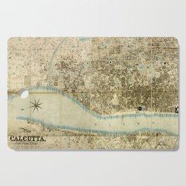 Map Of Calcutta 1857 Cutting Board
