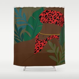Jungle Fever // Woman, Feminine, Plants, Plant Lady, Nature, Green Shower Curtain