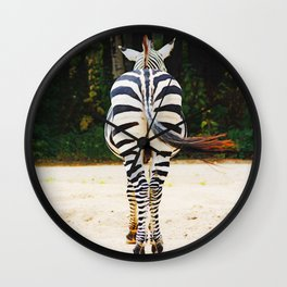 Shy Zebra Wall Clock