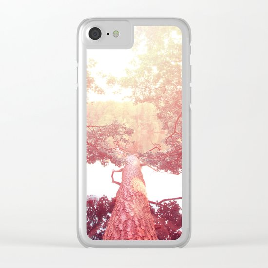 Red woods #trees Clear iPhone Case