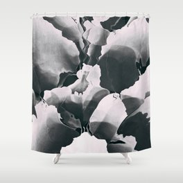 Blooming in black and white Shower Curtain