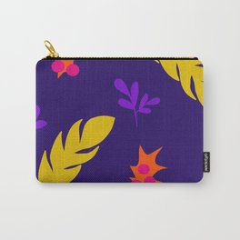 Purple and yellow feathers Carry-All Pouch