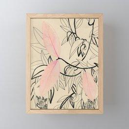 Line drawing leaves #5 Framed Mini Art Print