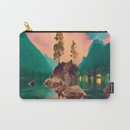 Rock Island, Lightning Background Carry-All Pouch
