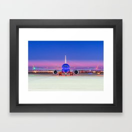 Face to face with a Boeing 737 Max 8 Framed Art Print