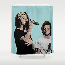 Pop Art Larry Stylinson  Shower Curtain