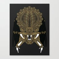 predator Canvas Prints featuring Predator by Nathan Owens