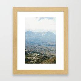 crater. Framed Art Print
