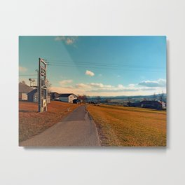 Scenic view at indian summer | landscape photography Metal Print