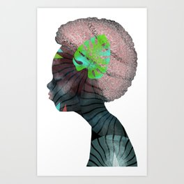 Woman Listening or Dreaming Art Print