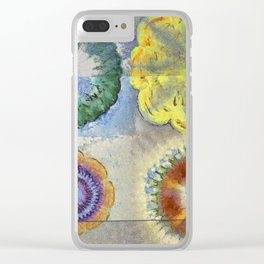 Recogitation Web Flowers  ID:16165-062317-11821 Clear iPhone Case