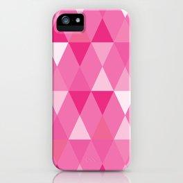 Harlequin Print Pinks iPhone Case