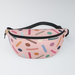 Postmodern Sticks + Stones in Pastel Pink Fanny Pack