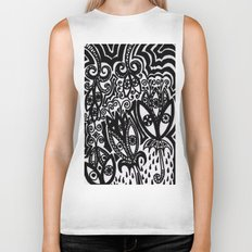 Flowers in the Rain Forest. Biker Tank