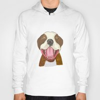 pit bull Hoodies featuring Pit Bull Pride by Kat Lyon