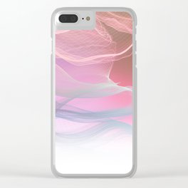 Flow Motion Vibes 1. Pink, Violet and Grey Clear iPhone Case