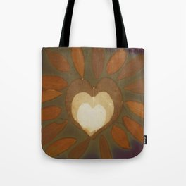 glowing heart Tote Bag