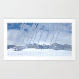 Winter ice Art Print