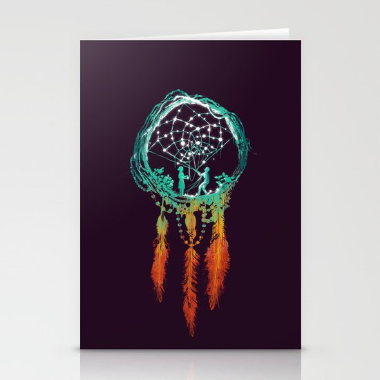 Dream Catcher (the rustic magic) Stationery Cards