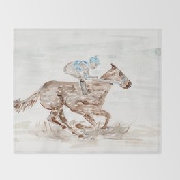 Race Horse, Derby, Kentucky, Throw Blanket