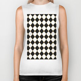 Chess board with golden threads Biker Tank