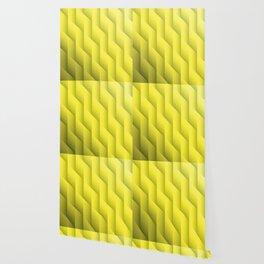 Gradient Yellow Diamonds Geometric Shapes Wallpaper