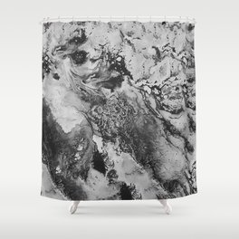 White: Paint Shower Curtain