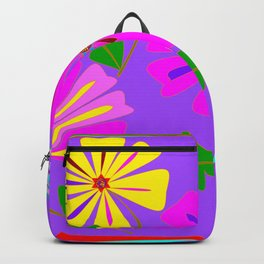 Lavender background of a Floral Design with Dragonfly Backpack