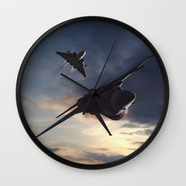Morning Aerob(at)ics Wall Clock